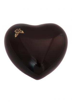 Mini Maroon Artisan Heart Keepsake Urn