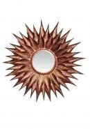 "29.5"" (Mirror 9"") Burnt Copper Antique Wall Mirror Frame"
