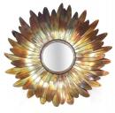 32 Inches Sunflower Burnt Copper Iron Mirror Frame