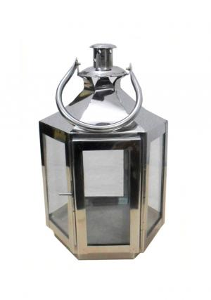 7.25 Inches Stainless Steel Candle Lantern