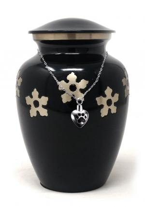 Adult Forget-me-not Cremation Urn+ Free jewellery Urn