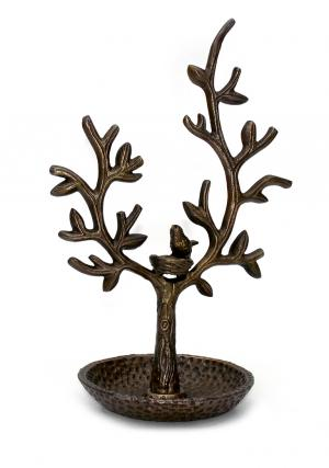 Aluminium Bird Nest Tree Jewelry Stand Organizer