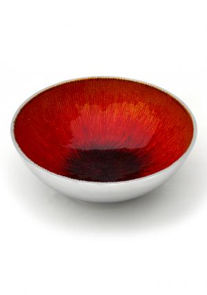 Aluminium Enamel Fair Trade Handicraft Fruit Bowl