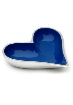 Aluminium Enamel Fair Trade Heart Shaped Bowl