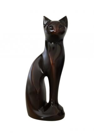 Antique Brass Cat Urn