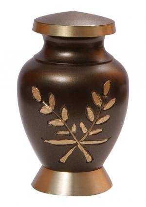 Aria Wheat Small Keepsake Urn for Ashes