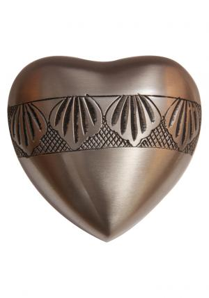 Autumn Leaves Heart Shaped Keepsake Urn