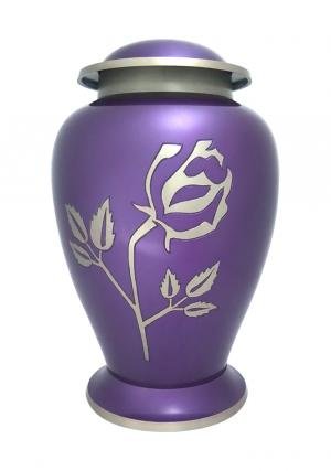 Avondale Purple Rose Adult Memorial Urn for Ashes