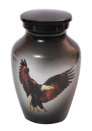 Gray with Bald Eagle Mini Keepsake Urn