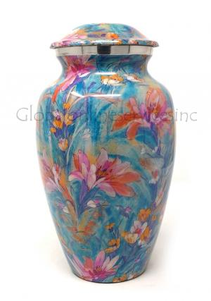 Beautiful Large Flower Cremation Urn