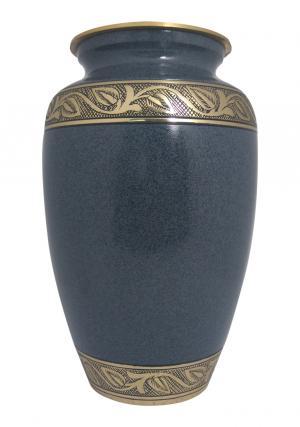 Big Cremation Urn, Black Marble Adult Urn For Human Ashes