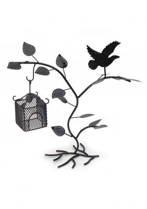 Black Birdhouse Jewelry Tree Organizer