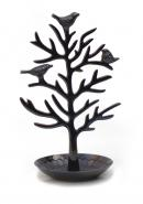 Black Nickel Plated Aluminium Birds Jewellery Tree Stand