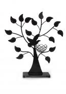 Black Powder Coated Iron Metal Nest Bird Jewellery Tree Stand