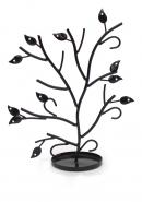 Black Powder Coated Tree Shaped Iron Jewelry Stand