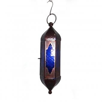 Blue Glass Hanging Tower Lantern