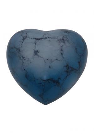 Blue Iris Aluminium Heart Keepsake Urn for Cremated Ashes