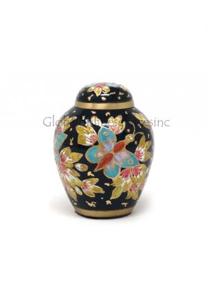 Brass Keepsake Floral Blush Cremation Urn