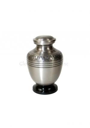 Brass & Pewter Cremation Keepsake Urn for Ashes