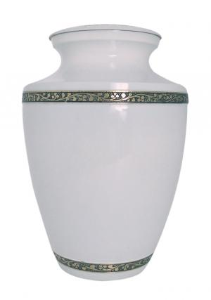 Brilliant Majestic White Big Memorial Adult Urn Ashes