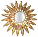 Carrow Sunburst 29 Inches Burnt Copper Iron Mirror Frame