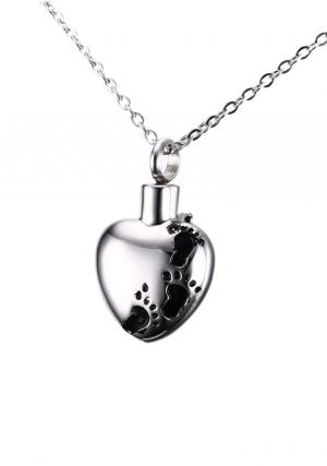 Child Cremation Urns Jewellery Heart Pendant, Necklace