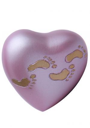 Child Sutton Rose Brass Heart Keepsake Urn for Ashes