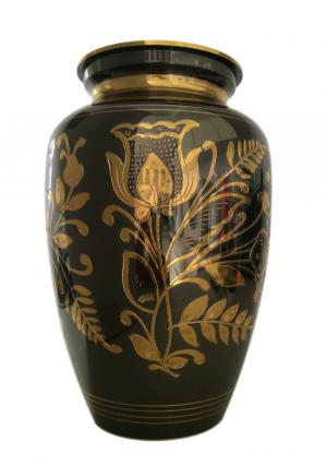 Classic Black Nickel Engraved Adult Urn