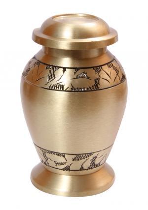 Classic Angel Engraved Brushed Mini Keepsake Urn