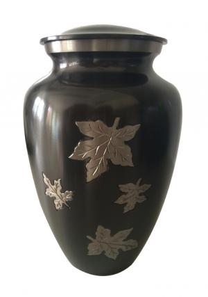 Classic Falling Leaves Large Adult Funeral Urn For  Ashes