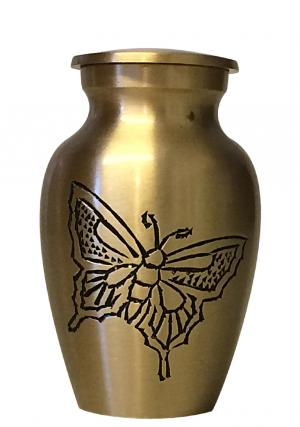 Classic Gold Butterfly Small Keepsake Urn