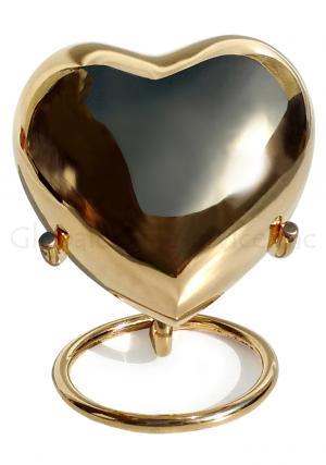 Classic Gold Coloured Heart Keepsake Urn