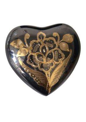 Classic Nickel Heart Shape Keepsake Urn