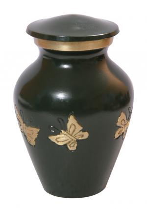 Mini Tribute Butterflies Green Funeral Keepsake Urn