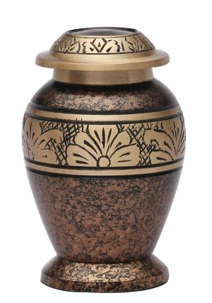 Copper Marble Small Keepsake Urn for Cremation Ashes