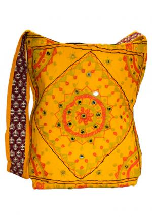 Cotton Design Handmade Embroidered Women Handbag