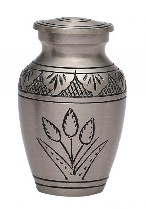 Country Pride Small Keepsake Brass Memorial Urn for Ashes