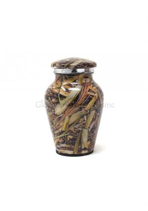 Cremation Urn Lost Camo Aluminium Keepsake Urn