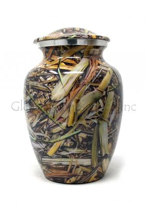 Cremation Urn Lost Camo Aluminium Medium Urn