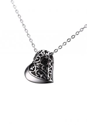 Cremation Urns Jewellery Heart Pendant, Necklace