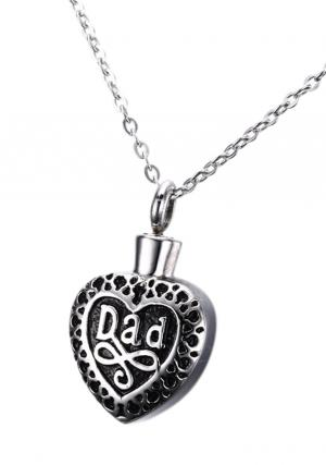Dad Heart Shape Cremation Jewellery Pendant