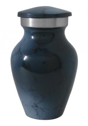 Dark Blue Mini Aluminium Keepsake Urn for Ashes