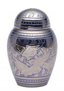 Dome Top Going Home Keepsake Urn Blue