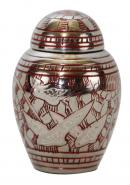 Dome Top Going Home Keepsake Urn Red