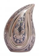 Doves Going Home Blue Teardrop Small Keepsake Urn Ashes