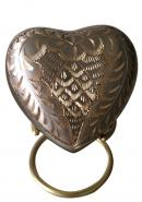 Elegance Platinum Heart Keepsake Urn with Stand