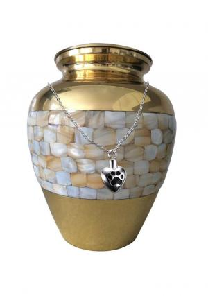 Elite Mother Of Pearl Adult Urn+ Free jewellery Urn