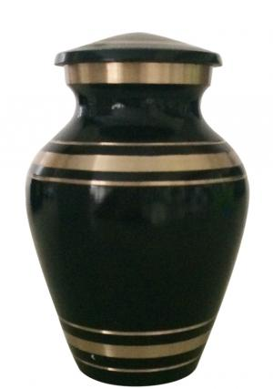 Elite Onyx Small Keepsake Brass Urn