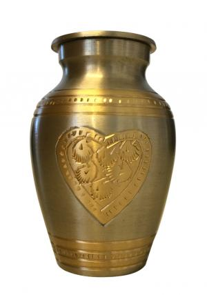Embossed Heart Design Keepsake Urn