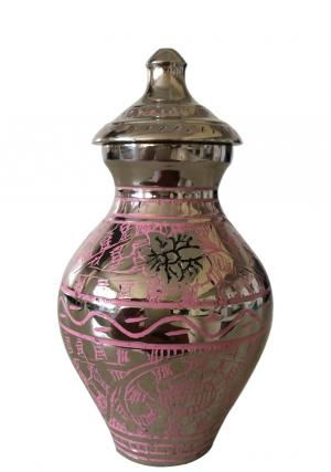 Engraved Pink Butterfly Small Urn